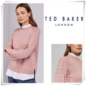 NWOT Ted Baker Lissiah Bobble Mockable Sweater